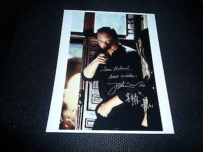 JOHN WOO signed Autogramm 20x25 cm In Person HARD BOILED