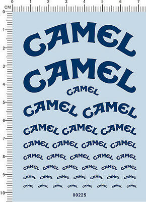 Decals CAMEL for different scales (blue) 00225