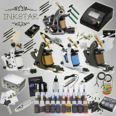Complete Tattoo Kit Professional Inkstar 5 Machine Ace CASE Set GUN 20 Color Ink