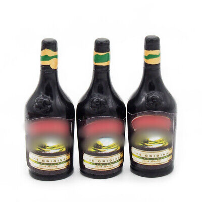 3PCS Sweet Wine Bottle 1:12 Dollhouse Miniature Bar Drink Decor Gift Collectable