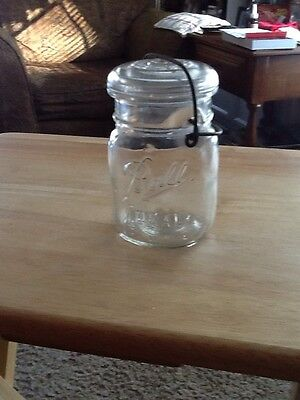 Vintage (1933-1962) BALL IDEAL Pint Canning Jar - Wire Bail & Glass Lid