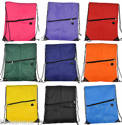 Drawstring Gym Bag School Library Swimming Travel Kids PE Swim Sport Backpack