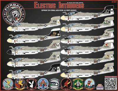 1/48 Furball Decals for the EA-6A Electric Intruders US Navy/USMC FUR48027