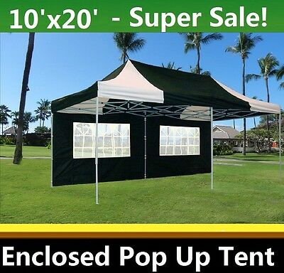 10u0027x20u0027 Enclosed Pop Up Canopy Party Folding Tent Gazebo - Black White -  sc 1 st  PicClick & 10u0027X20u0027 ENCLOSED Pop Up Canopy Party Folding Tent Gazebo - Black ...