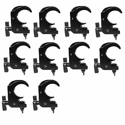 Global Truss Snap Clamp/BLK Medium Duty Hook Style Clamp - Black Finish 10 Pack