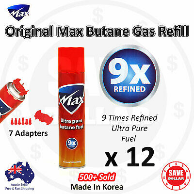 12x 300ml Butane Gas Refill GENUINE MAX Jet Lighter 9X REFINED Bottle Blowtorch