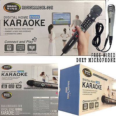 Magicsing Karaoke Videoke Mic ET25K Built-in Over 2300 MIX Tagalog English Songs