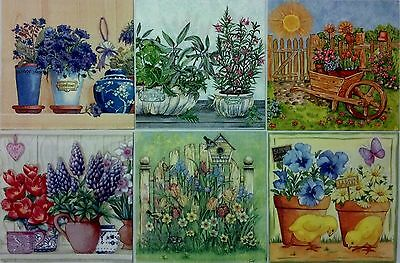 6 paper napkins for decoupage & crafts lunch size 3-ply made in Germany