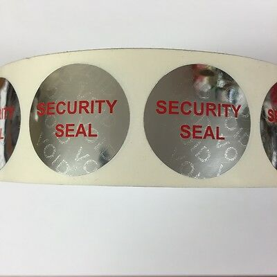 Tamper Evident Security Seal Labels (Stickers) 25mm diameter