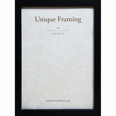Box Black Photo Frame A4 Stylish and Modern Picture Frame Ready To Hang Portrait