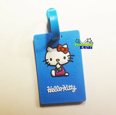 New Cute Hello Kitty Luggage Tags ID Card Credit Card Bank Card Holder Blue