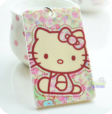 New Cute Hello Kitty ID Card Credit Card Bank Card Holder Pink Bow