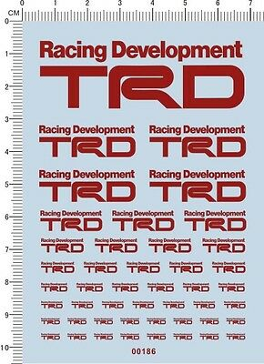 Decals Toyota TRD for different scales (red) 00186