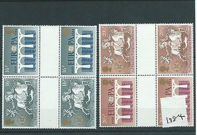 wbc. GB - COMMEMS - 1984 - EUROPEAN ELECTIONS - GUTTER PAIRS - UNM MINT SETS