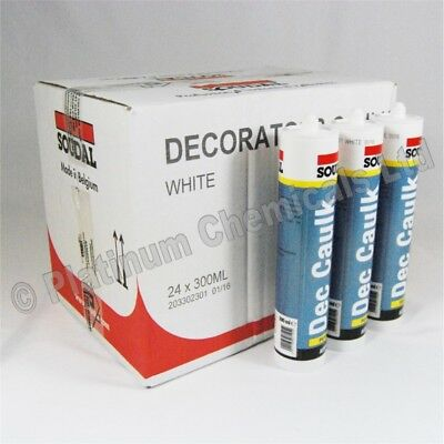 Soudal Decorators Painters Caulk - Acrylic Solvent Free Sealant & Filler