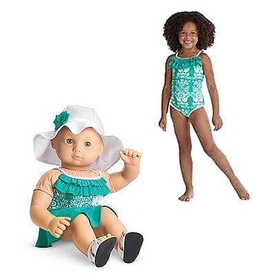 American Girl CL BITTY BABY DUO OCEAN BLOSSOM SWIMSUIT SIZE M for Girl Dolls NEW