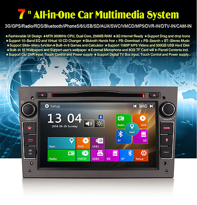 "Radio Dvd 7"" Exclusiva Opel Hd Gps Wifi 3G Bluetooth Ipod Usb"
