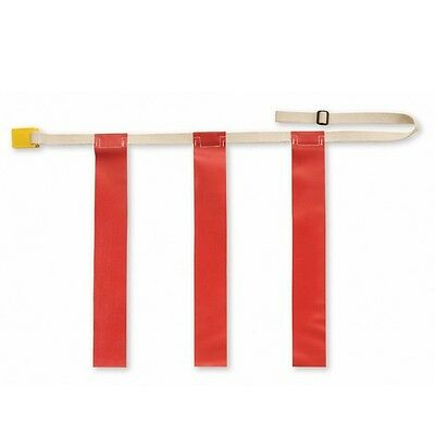 "Triple Threat Flag Football Belt w/ Red Flag - LARGE: 32"" - 44"""