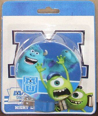 Disney MONSTERS UNIVERSITY Mikey Sulley Wall Plug-In NIGHT LIGHT Kids Room Decor