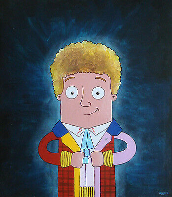 Original Onno Knuvers painting: The 6th Doctor