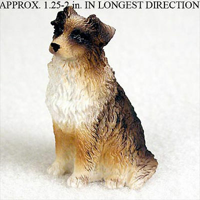 Australian Shepherd Mini Resin Hand Painted Dog Figurin