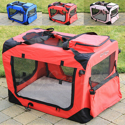 RayGar Portable Fabric Pet Puppy Cat Dog Cage Carrier Travel Crate Kennel Bed