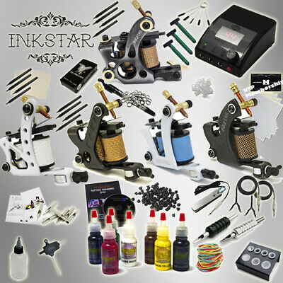 Complete Tattoo Kit Professional Inkstar 5 Machine Ace Set GUN Radiant Ink