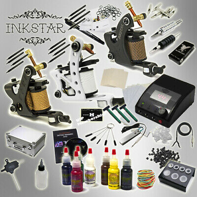 Complete Tattoo Kit Professional Inkstar 3 Machine APPRENTICE & CASE GUN Radiant