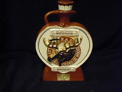 Moose Haven 50th and MooseHeart 60th Anniversary Wiskey Decanter
