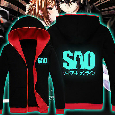 Luminous Anime Sword Art Online SAO Clothing Sweatshirt Jackets Coat Hoodie