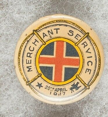 WW1 Australian Merchant Service 20th April 1917 Pinback Button Badge