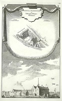 Antique map, Het Lucia Klooster