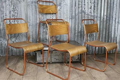 Chelsea Stacking Chair With Copper Coated Frame