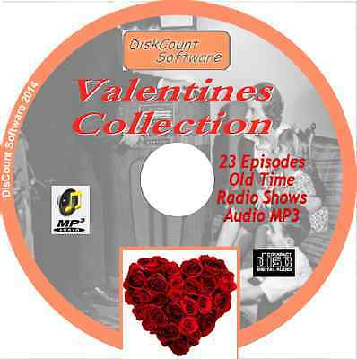 Valentines Collection - 23 Old Time Radio Shows - Audio MP3 CD