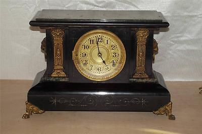 Antique Seth Thomas Adamantine 8 Day Mantle Clock ~ Late 1800's ~ RUNS!