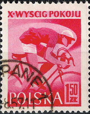 Poland Sport Cycling stamp 1957