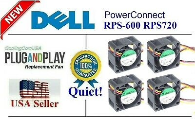 Quiet! Dell PowerConnect RPS-600 Fan Kit, 4x Sunon MagLev 18dBA Noise Level