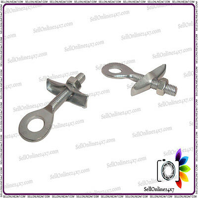 Pair Of Chain Tensioner Axle Adjusters - Many Vintage Bicycles 10mm Hole