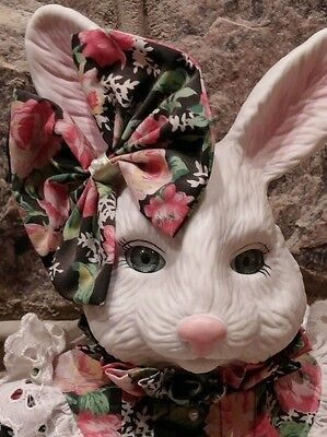 """BETTY BALL- 20"""" PORCELAIN  MUSICAL RABBIT-PLAYS """" I NEVER PROMISED YOU A ROSE GA"""