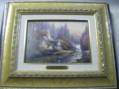 Thomas Kinkade The Forest Chapel End of a Perfect Day Spring Gates Accent Prints