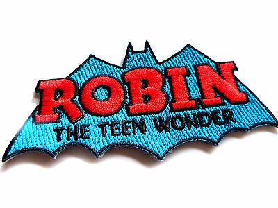 Robin of  Batman EMBROIDERED PATCH dc comics ironon sew Officially Licensed