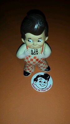1973 Big Boy advertising rubber bank with big Boy Pinback makes a great display