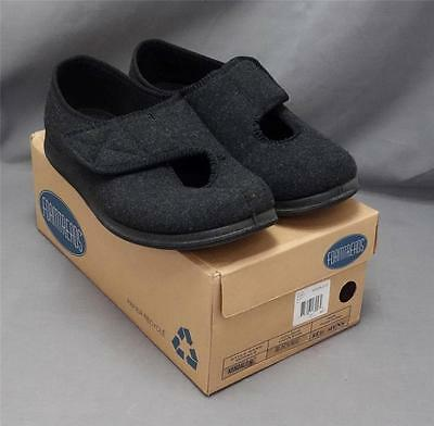 Men Foamtreads Kendale Black foam hard sole Velcro Tab Slipper Shoe 8ED NEW NIB