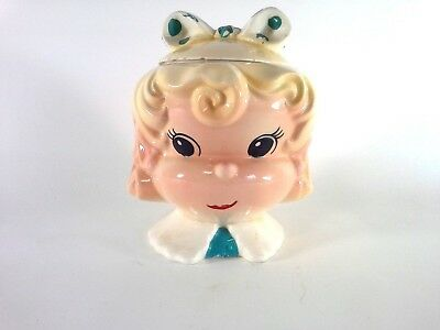 Vintage Candy Girl Cookie Jar by Metlox Manufacturing Co. Hard to Find