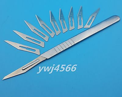 10Pcs 11# Carbon Steel Surgical Scalpel Blades PCB Circuit Board +1Pcs 3 #Handle