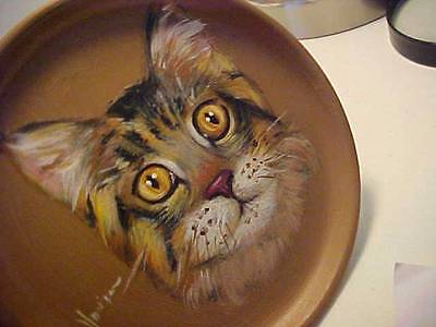 Cat Handpainted Decorative  Plate Closeout Sale