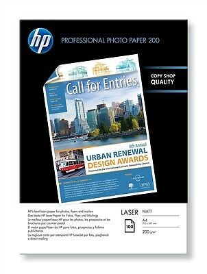 HP Professional (A4) 200g/m2 Matte Laser Photo Paper (White) 1 Pack of 100