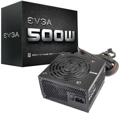 EVGA White 500W Power Supply 80 Plus