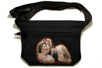 Embroidered Dog treat pouch/bag. Breed - Shih Tzu