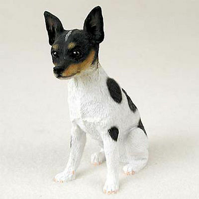 Rat Terrier Hand Painted Collectible Dog Figurine Statue